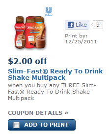 slim fast coupon