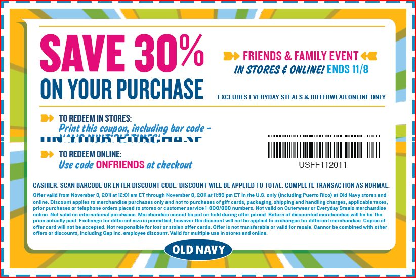 Old navy online coupon codes