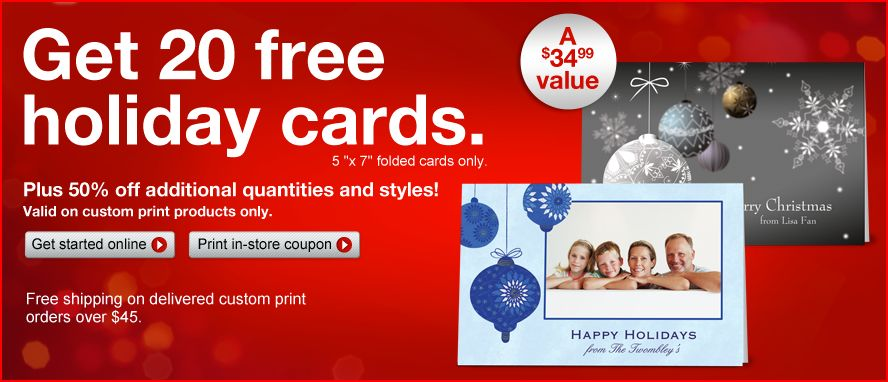 Staples FREE Holiday Cards