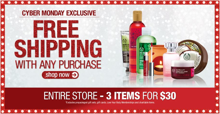 The Body Shop - Cyber Monday 2011