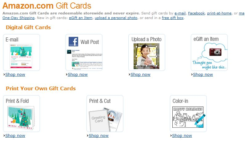 Amaozn Gift Cards