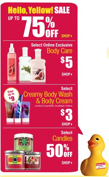 Bath and Body Works Clearance