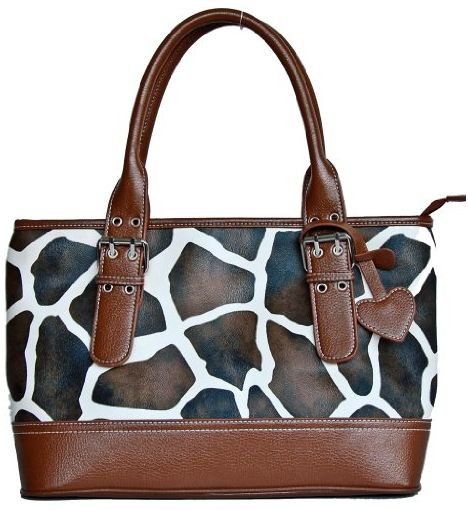 Brown Giraffe Shoulder Tote
