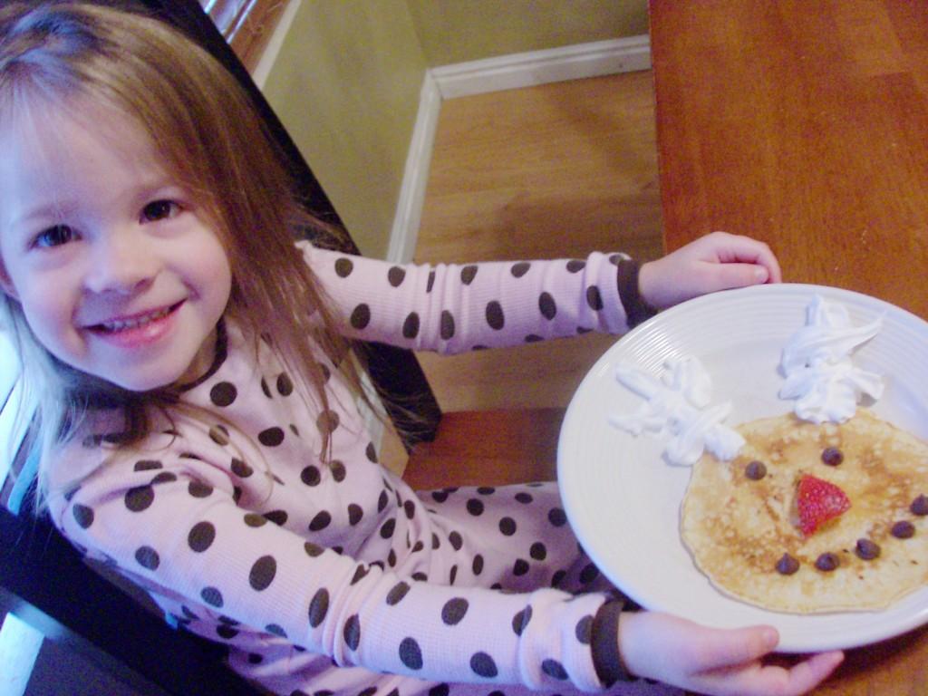 Christmas Breakfast: Reindeer Pancake