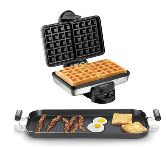 Hamilton Beach Belgian Waffle Maker and WearEver Griddle Value Bundle - Walmart