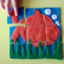 Homemade Gift Felt Puzzles Fish