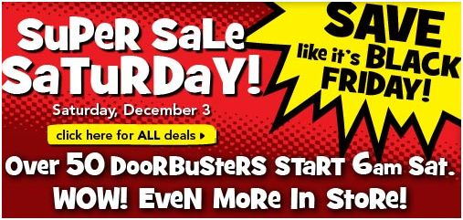 Toys R Us Super Saturday Sale