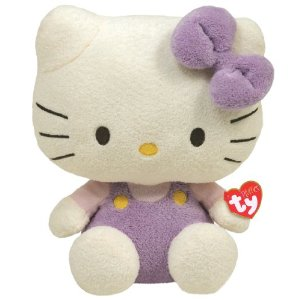 Ty Pluffies - Hello Kitty Purple