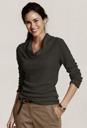 lands' end canvas cowl neck
