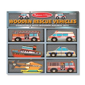 melissa and doug wooden rescue vehicles amazon toy deal