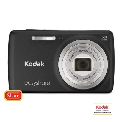 Kodak EasyShare M552 14MP Digital Camera with 5x Optical Zoom - Black