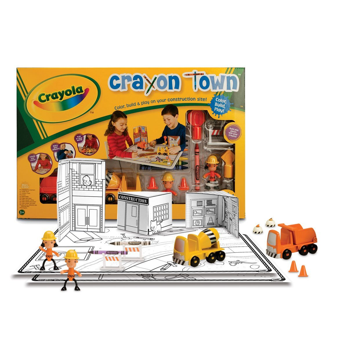 Wild Planet Crayola Crayon Town Large Mat Construction Set
