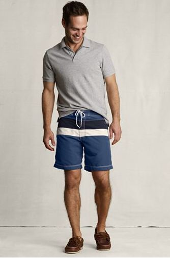 lands end canvas mens retro board shorts