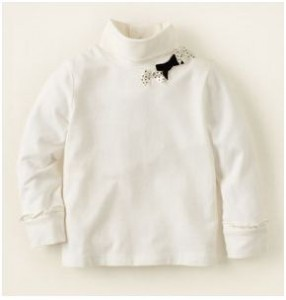 Infant Girls Bow Turtleneck - The Children's Place