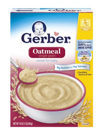 gerber oatmeal