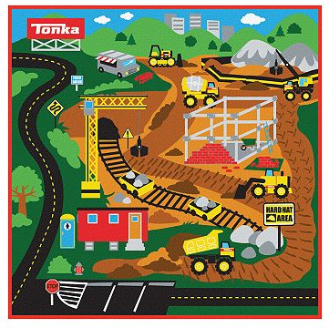 Tonka Truck Gravel Pit Game Rug Original $39.99