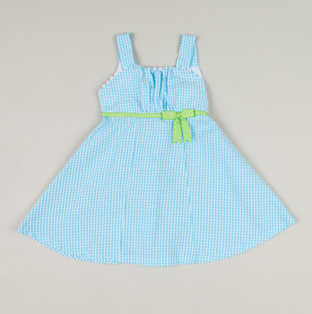 Toddler Seersucker Dress with Bow - Totsy