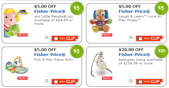 fisher price toy and baby coupons