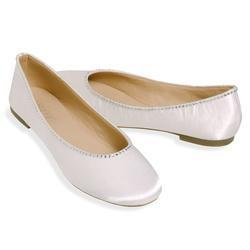 ESNY Totes Isotoner Satin Ballerina Bridal Shoes