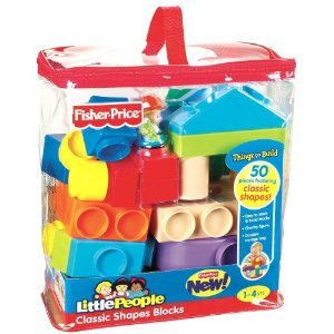 Fisher-Price Little People Builders Classic Shapes Blocks - Amazon Toy Deal