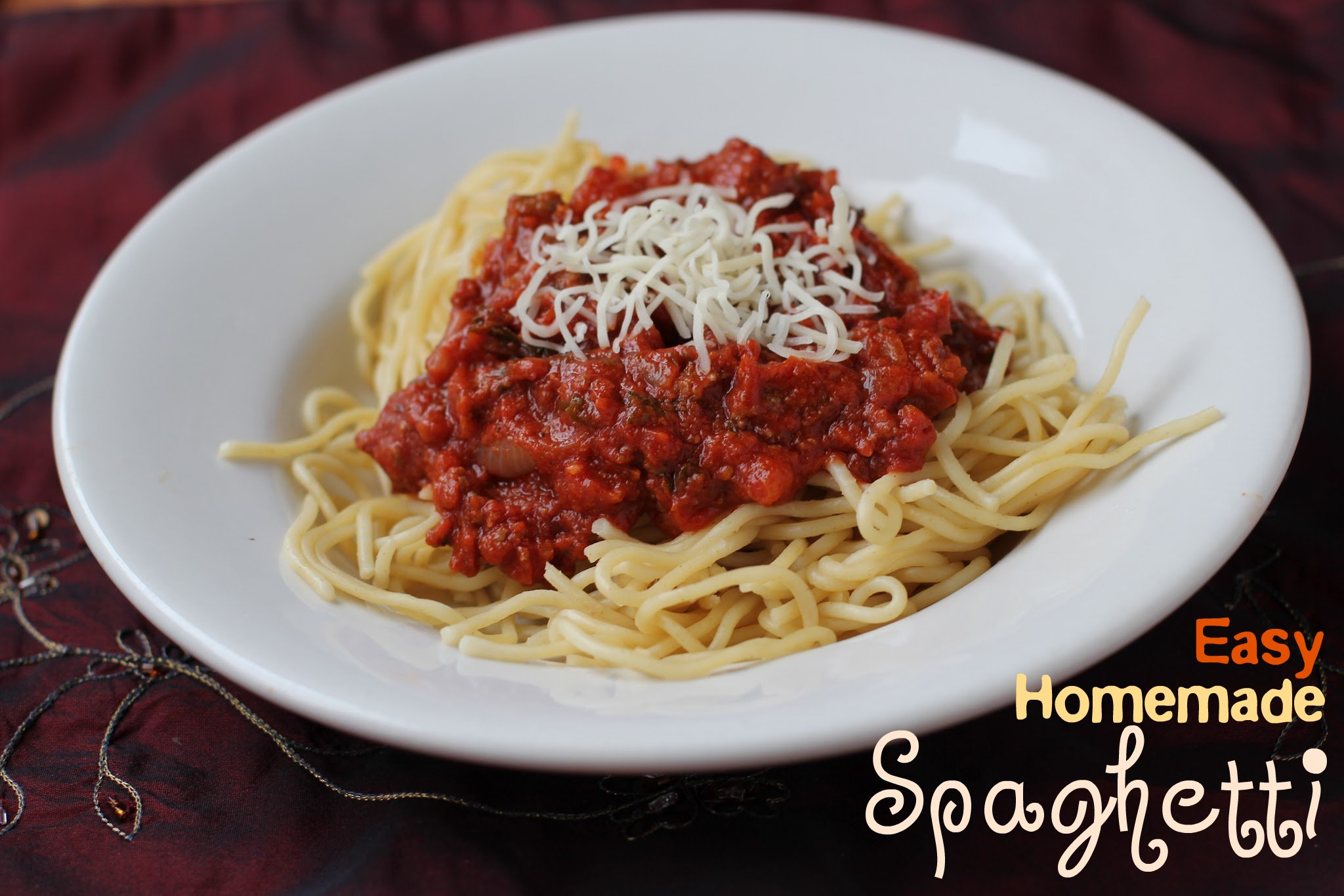 easy homemade spaghetti sauce