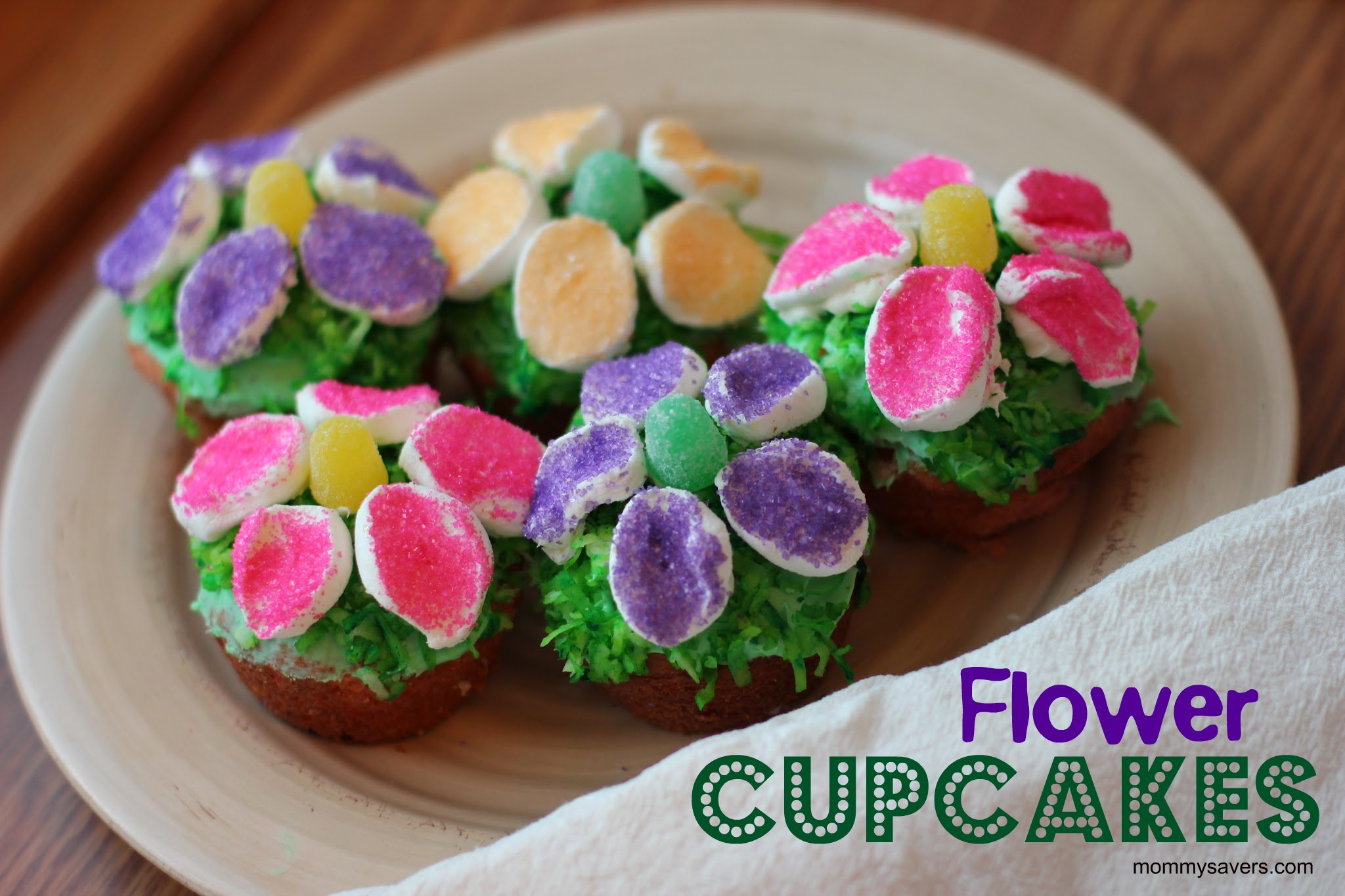 Cooking with Kids Flower Cupcakes