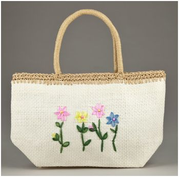 Straw Beach Bag - Totsy