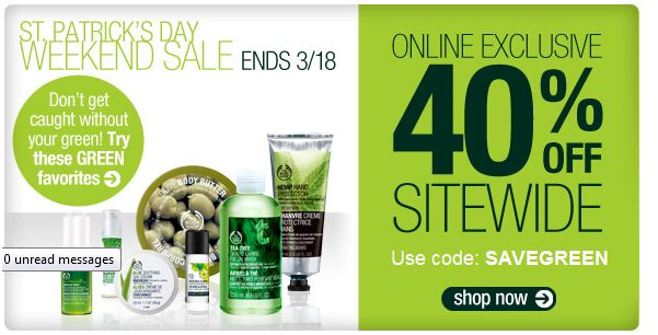The Body Shop - St. Patrick's Day Sale