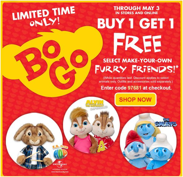 Build a Bear BOGO Deal
