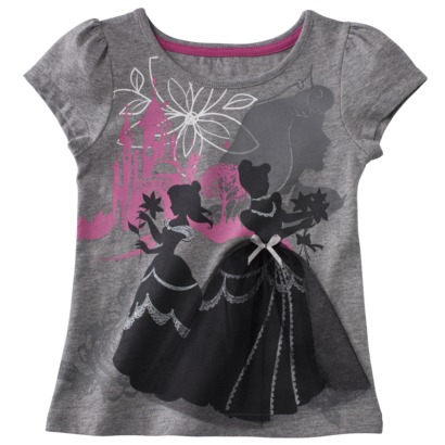 Disney® Toddler Girls Short-Sleeve Fairytale Tee - Grey - Target