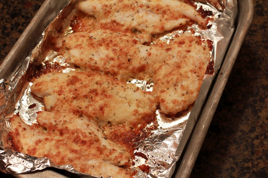 Parmesan crusted swai quick easy and frugal mommysavers for Parmesan crusted fish