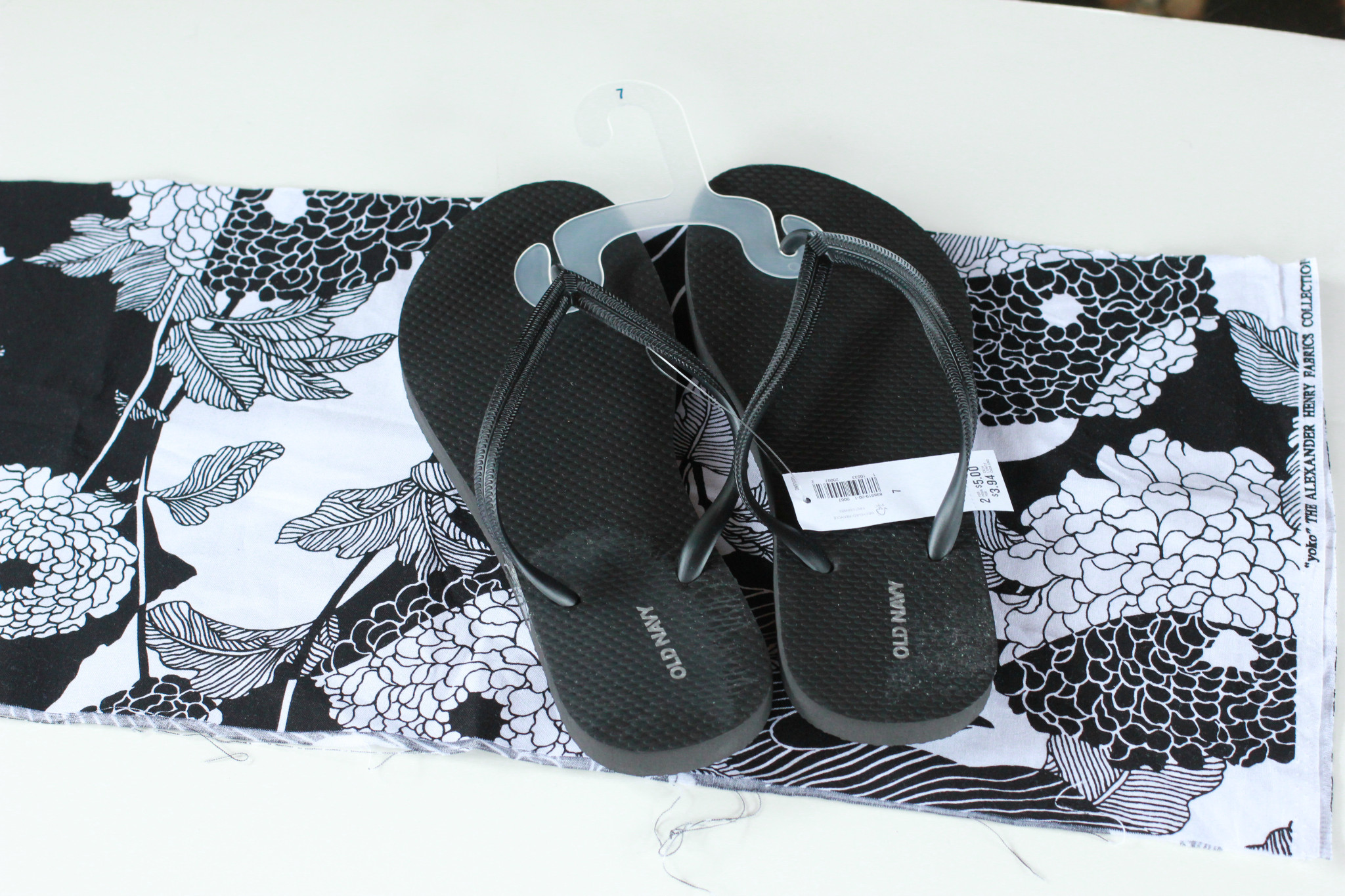 d8c2fbf55 Kate Spade-Inspired DIY Fabric Flip-Flops for Just  3.50 - Mommysavers