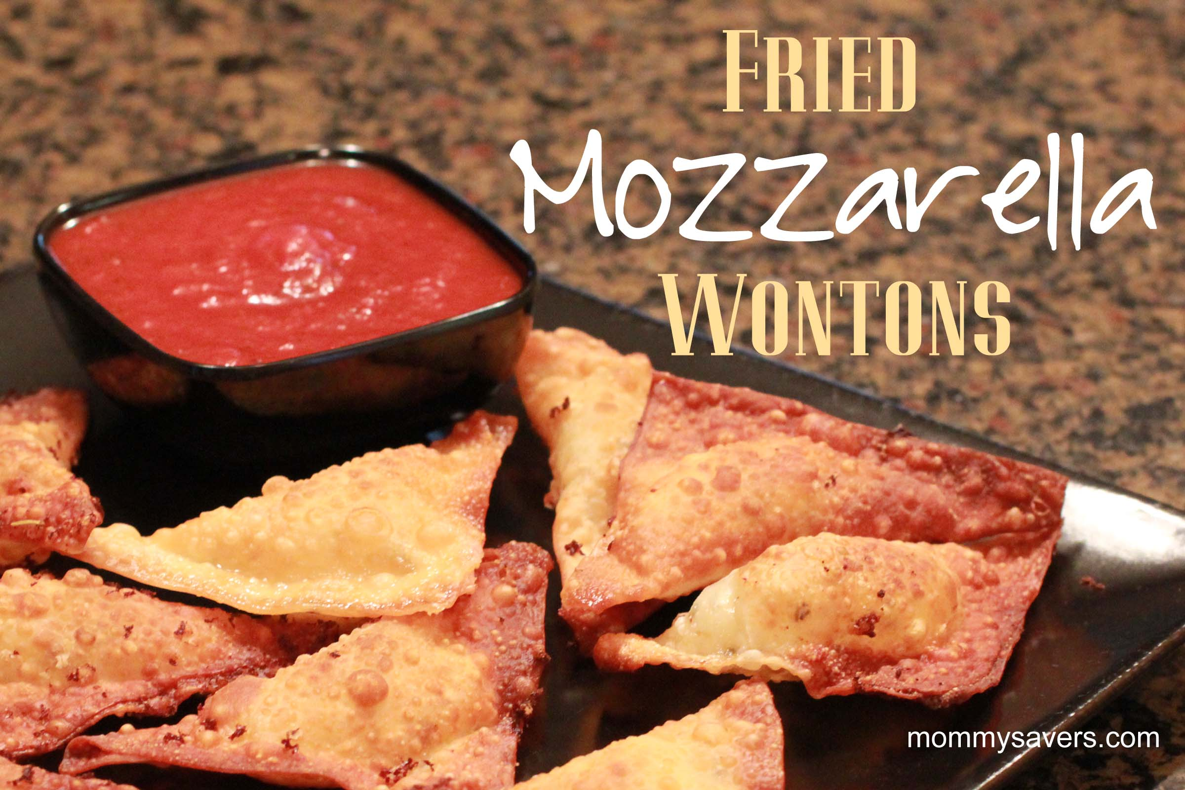 fried mozzarella wontons