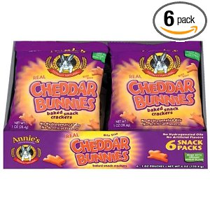 Annie's Homegrown Cheddar Bunnies Baked Crackers, 1-Ounce Snack Packs in 6-Count Boxes - Amazon