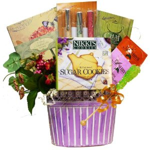Art of Appreciation Gift Baskets Thoughts of You Stationary and Tea Gift Basket - Amazon