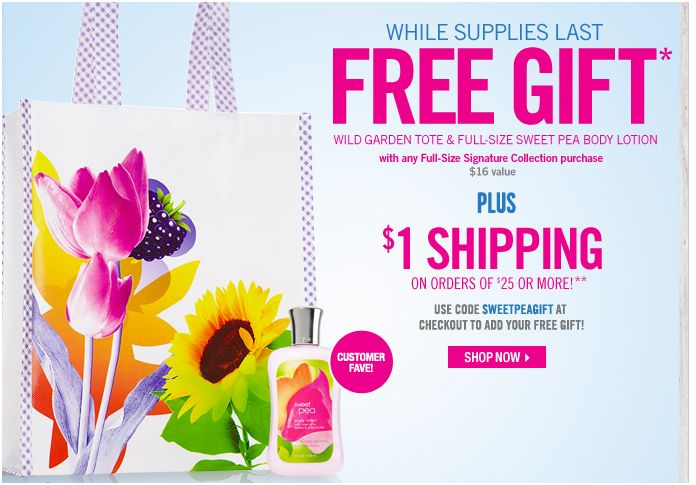 Bath and Body Works Free Gift Deal