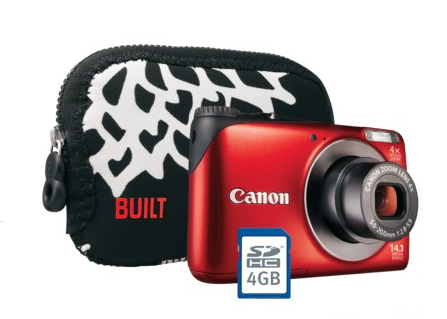 Canon PowerShot A2200 14.1MP Digital Camera Kit with Carrying Case and 4GB Memory Card