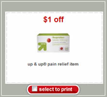 Target Coupon - Up & Up Pain Relief