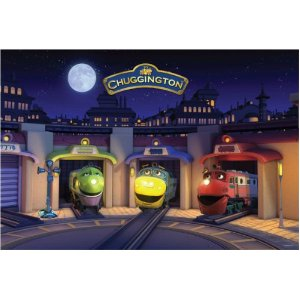 Chuggington - 24 Piece Glow-In-The-Dark Floor Puzzle