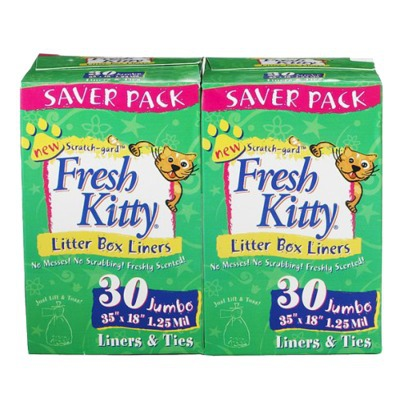 Fresh Kitty Jumbo Litter Box Liners - Double Saver Pack
