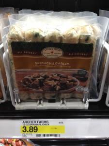archer farms spinach garlic sausage target