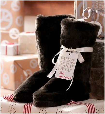 Luxe Fur Slippers - Pottery Barn Teen