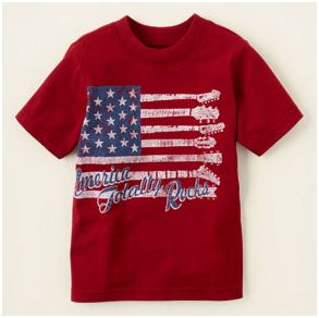 Children's Place America Rocks Tee