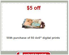 Target 50 Photo prints coupon