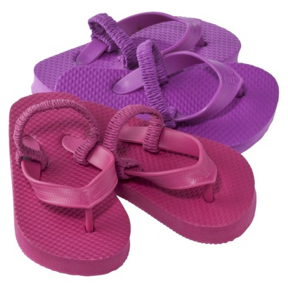Toddler Girls Booker 2-Pack Flip Flops - Target