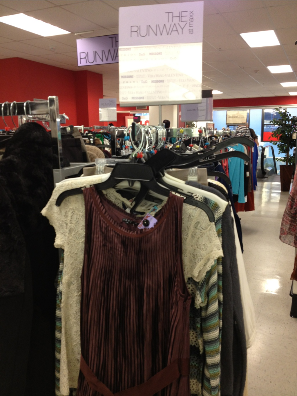 the runway at tj maxx