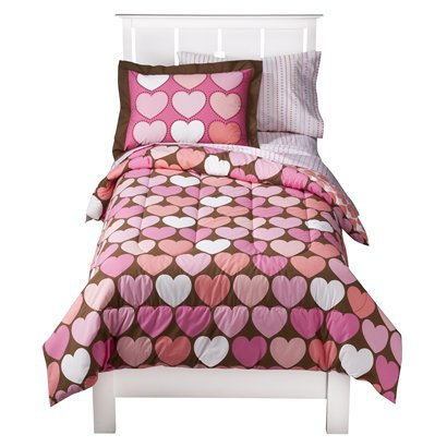 Circo® Hearts Bedding Set - Coral