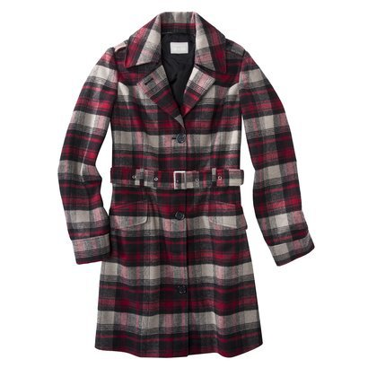 Converse® One Star® Womens Plaid Outerwear Coat