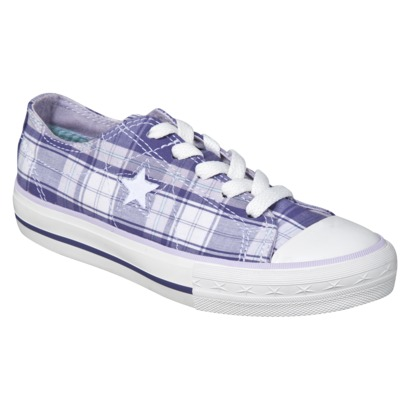 Kid's Converse® One Star® Plaid Oxford - Purple