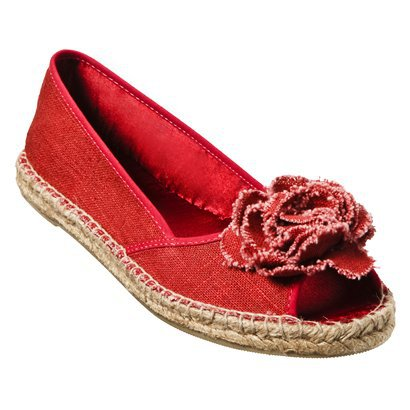 Womens Mossimo Supply Co. Ownah Flower Espadrilles - Red